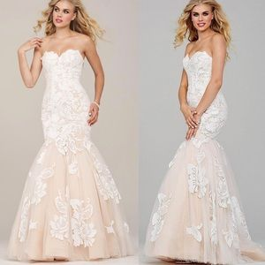 Jovani | Sequin Lace Sweetheart Tulle Mermaid Gown